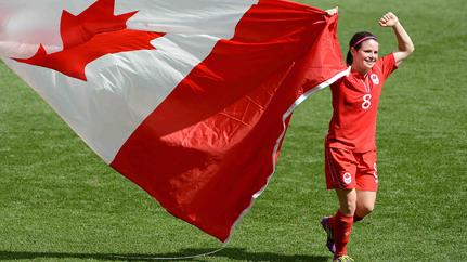 Canada women's soccer teamwork