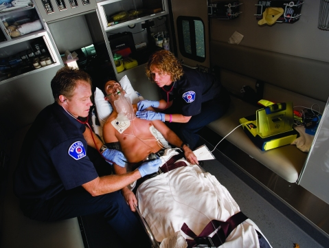 AED in ambulance
