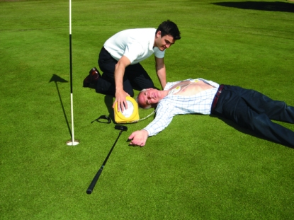 Golf cardiac arrest